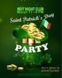Saint Patricks Day Invitation Card Design Royalty Free Stock Photography