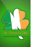 Saint Patricks day Irish clover background card Royalty Free Stock Image