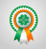 Saint Patricks Day Irish rosette Stock Photos