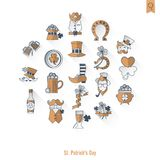 Saint Patricks Day Isolated Icon Set Royalty Free Stock Photo