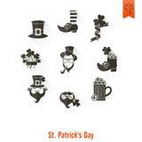 Saint Patricks Day Isolated Icon Set Royalty Free Stock Images