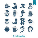 Saint Patricks Day Isolated Icon Set Royalty Free Stock Image