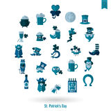Saint Patricks Day Isolated Icon Set Royalty Free Stock Photography