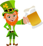Saint Patricks Day Leprechaun Beer Mug Cheers Stock Images