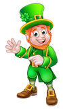 Saint Patricks Day Leprechaun. Cartoon Leprechaun St Patricks Day character Royalty Free Stock Photography