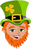 Saint Patricks Day Leprechaun Face Stock Image