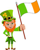 Saint Patricks Day Leprechaun Flag Eire Stock Photography