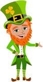 Saint Patricks Day Leprechaun Presenting Stock Photography