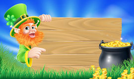 Saint Patricks day leprechaun scene Stock Photo