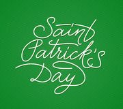 Saint Patricks Day lettering Royalty Free Stock Photography
