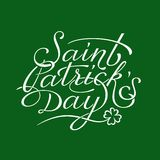 Saint Patricks Day lettering Stock Photography