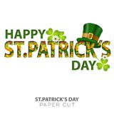 Saint Patricks Day Paper Cut Royalty Free Stock Image
