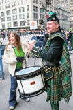 Saint Patricks Day Parade drums Royalty Free Stock Images
