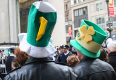 Saint Patricks Day Parade hats Royalty Free Stock Images