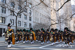 Saint Patricks Day Parade, New York City. New York City- March 17 2010: Saint Patricks Day Parade on March 17, 2010 in New York City Royalty Free Stock Photography