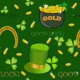 Saint Patricks Day pattern Royalty Free Stock Photography