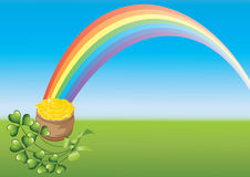 Saint Patricks Day and rainbow Royalty Free Stock Photography
