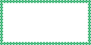 Saint Patricks Day rectangle border made of shamrocks. Clover with space for text isolated on white background. Vector illustration, template, banner, poster Royalty Free Stock Images