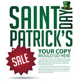 Saint Patricks Day sale ad template Stock Photography