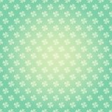 Saint Patricks Day seamless pattern with clover shamrock Vector cartoon colorful spring background royalty free illustration
