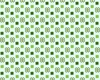 Saint Patricks Day seamless pattern with clover shamrock Vector cartoon colorful spring background vector illustration