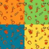Saint Patricks Day Seamless Pattern Stock Photo