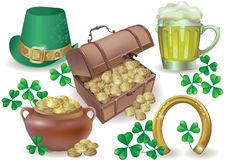 Saint Patricks Day set Royalty Free Stock Photo