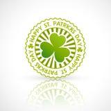 Saint patricks day stamp label Stock Photo