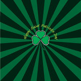 Saint Patricks day Sunburst Royalty Free Stock Image