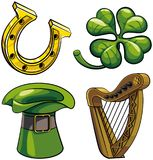 Saint Patricks Day symbols Stock Photography