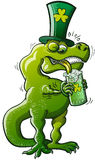Saint Patricks Day Tyrannosaurus Rex Royalty Free Stock Image