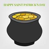 Saint Patricks Day Vector Background. With cauldron Vector Illustration