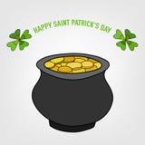 Saint Patricks Day Vector Background. With cauldron Royalty Free Illustration