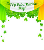 Saint Patricks Day vector curtain with sign and Stock Photography