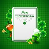 Saint Patricks day vector illustration with Stock Photo