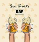 Saint patricks days cartoons card. Vector illustration grapic design royalty free illustration