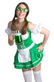 Saint Patricks Girl Royalty Free Stock Photography