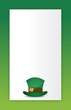 Saint patricks hat background Stock Photos