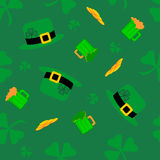 Saint Patricks pattern Stock Image