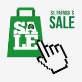 saint patricks sale design Royalty Free Stock Photos