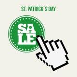 saint patricks sale design Royalty Free Stock Image