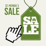saint patricks sale design Stock Image