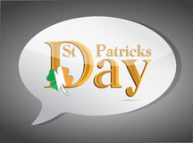 Saint patricks speech bubble Royalty Free Stock Images