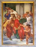 Saint Paul é arrastado do templo imagem de stock