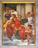 Saint Paul é arrastado do templo fotos de stock