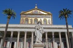 Saint Paul basilika i Rome royaltyfri bild
