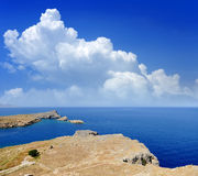 Saint Paul Bay from Lindos Rhodes island Royalty Free Stock Images