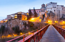 Saint Paul bridge and Hanging houses in Cuenca Royalty Free Stock Photo