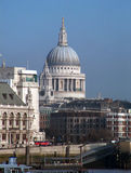 Saint Paul Cathedral. In London Royalty Free Stock Photo