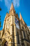 Saint paul cathedral on Federation Square in Melbourne, Victoria, Australia Royalty Free Stock Photo
